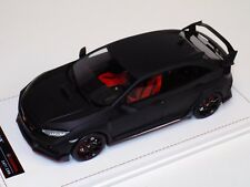 1/18 MotorHelix Honda Civic Type R LHD in Matt Black Leather base