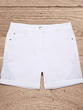 Together Plus Size 20 White Lace Détail Shorts £ 35 Summer Holiday Fab Flattering