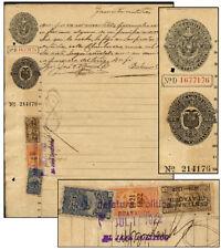 ECUADOR 1921-1922 30¢/1919-1920 30¢ +25¢ GUAYAQUIL