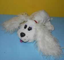 "Mattel 2004 Pound Puppies 14"" White Cocker Spaniel Dog Furry Ears Purple Eyes"