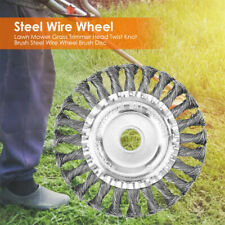 More details for lawn grass strimmer head trimmer brush solid steel wire wheel for garden weed uk