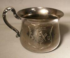 Silver Plate Mug with Masonic Symbol