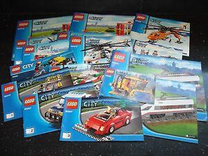 Lego City 1x Set of Instructions - Multiple Variations!