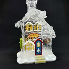 """Frostville Village Ice House Shop Store 10.5"""" Lighted Building Roman 49684 New"""