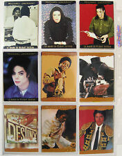MICHAEL JACKSON Trading Cards History PANINI 1996 x 9 Foiled BLACK / BEIGE Set 6