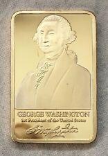 George Washington, Mount Rushmore gold-plated Bar