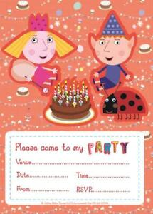 BEN AND HOLLY Birthday Party Invites (20 Pack) - Matching Items in My Shop