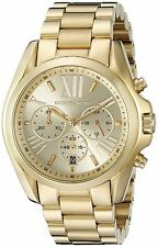 Michael Kors Women's MK5605 Bradshaw Chronograph Gold-Tone Stainless steel Watch