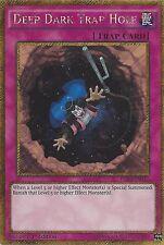 YU-Gi-Oh card: Deep Dark Trap Hole-GOLD SECRET RARE-pgl3-en037 1st Edizione