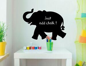 Elephant chalkboard wall sticker | blackboard wall stickers | Chalkboard decals