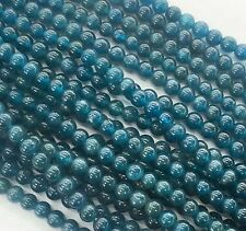 New 8mm blue ink Apatite Round Gemstones Loose Beads 15 inch AAA+