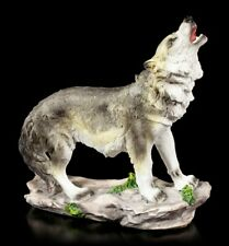 Wolf Figur - In die Nacht heulend - Wölfe Western Deko Statue