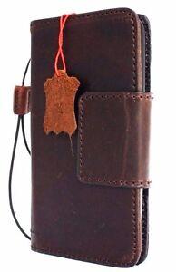Genuine Natural leather hard case for LG G5 Magnetic 4 Credit Cards Slots Davis