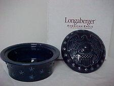 Longaberger Pottery ~ All American Eagle Casserole Dish And Lid ~ 1.5 qt ~ Nib