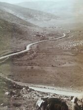 Barley Vale shepherds leading to Shecham Gerizim Ebal Bible Underwood Stereoview