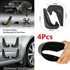 4x Universal Car Front Rear Mud Flap Flaps Splash Guard Mudguards Accessories