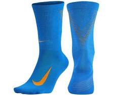 NIKE Elite 2.0 Crew Running Socks Blue Orange SX5192 Mens 4 - 5.5 Women's 5.5- 7