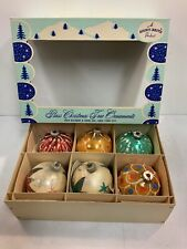Max Eckhardt 6 Pack Glass Christmas Ornaments MultiColored Christmas Ornaments