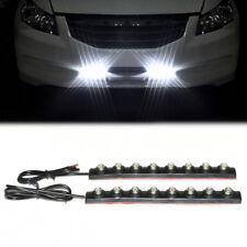 Universal 8 LED DRL Weiß Nebelscheinwerfer Tagfahrlicher Blinkerleuchte 12V