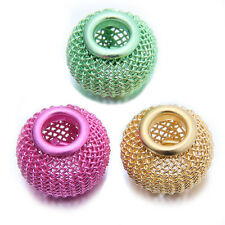 25pcs Bulk Mixed Random Color Iron Wire Lantern Shape European Charms Beads BS