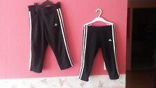 Adidas Capri Sport-Hosen Leggings knielang 140 & 152 wie Neu schwarz stretch