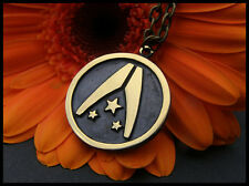 Mass Effect Alliance Necklace Pendant With Chain  Brass Casting