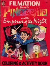 Pinocchio coloring book RARE UNUSED