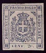 MODENA GOVERNO PROVVISORIO 1859 - 20 c. n.15 NUOVO SPL Cert. FERRARIO € 4.250