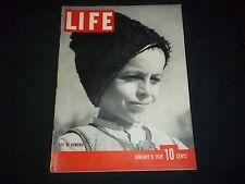 1939 JANUARY 6 LIFE MAGAZINE - BOY OF ROMANIA - BEAUTIFUL FRONT COVER - GG 201