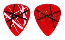 Eddie Van Halen Signature Frankenstrat Clear Red Guitar Pick - 2004 Tour