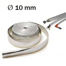 1m Hitzeschutzschlauch 10mm Kabelschutz Hitzeschutz Fiberglas Alu Heat Sleeve