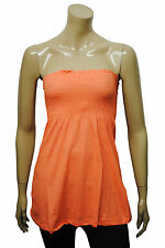 Womens Terranova Strapless Tube Top Dress Tunic Salmon Pink Size 8 to 14 Ladies