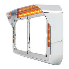 headlight bezels(2) amber lens 21 amber diode Western Star Peterbilt Kenworth FL