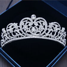 6cm High Heart Crystal Crown Wedding Bridal Party Pageant Prom Tiara