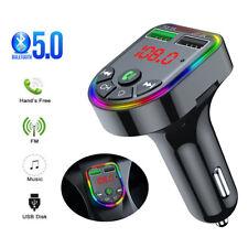 Bluetooth FM Transmitter Auto MP3 Player Dual USB KFZ RGB LED Freisprechanlage