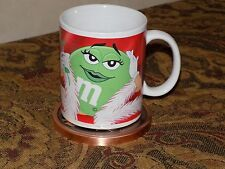 M&M Candy Miss Green Ceramic Collectible Coffee Mug Cup