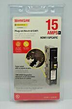 10x Square D HomeLine 15A Plug-on Neutral Combo Arc-Fault Breaker HOM115PCAFIC +