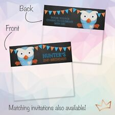 Personalised Giggle and Hoot Party Loot Bag Toppers / Lolly Bags Topper
