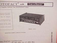 1979 TRS CHALLENGER CB RADIO SERVICE SHOP MANUAL MODEL 1400