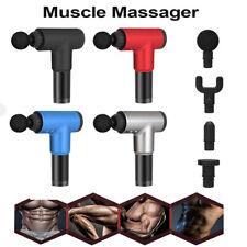 Pistola De Masaje Masajeador De Percusión vibración muscular Tratamiento Relajante tejido profundo Reino Unido