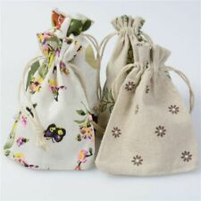 Bags Linen Burlap Gift Wrap Supplies Candy Party Event Drawstring Pouch Jewelry