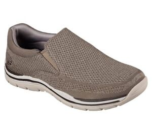 Men's Skechers Relaxed Expected Gomel Loafer Shoes, 65086 /TPE Sizes 8-14 Taupe