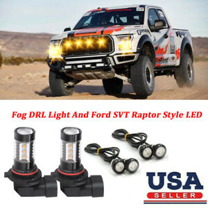 LED Fog Light+SVT Raptor Style Grille Light For Dodge RAM 1500 2500 3500 2009-12