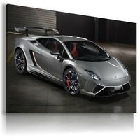 LAMBORGHINI GALLARDO GRAPHITE Sports Car Wall Art Canvas Picture  AU477 MATAGA .