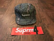Rare Supreme SAMPLE Tree Camo Camp Cap Hat FW12 Olive Green Box Logo CDG PCL