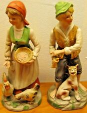 vintage man and woman french country figurines large