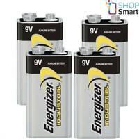 4 ENERGIZER ALKALINE 6LR61 BATTERIES 9V INDUSTRIAL E BLOCK 6AM6 MN1604 EN22 NEW