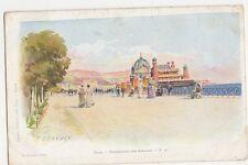 E. Lessieux, Nice, Promenade Des Anglais Early Art Postcard, B330