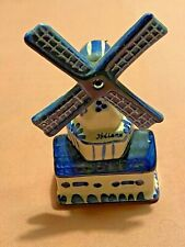 More details for vintage small ceramic dutch hand painted windmill 12cm holland freep&puk