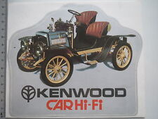 Adesivo sticker KENWOOD-Car Hi-Fi-AUTO D'EPOCA-RETRO-audio (m1543)